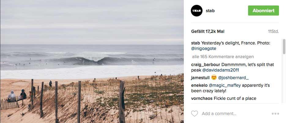 Nur ein Bild zum Beweis: So sah gestern La Gravière in Hossegor aus. Der Strand der Surf-DM liegt nur etwa 1 Kilometer weiter nördlich.