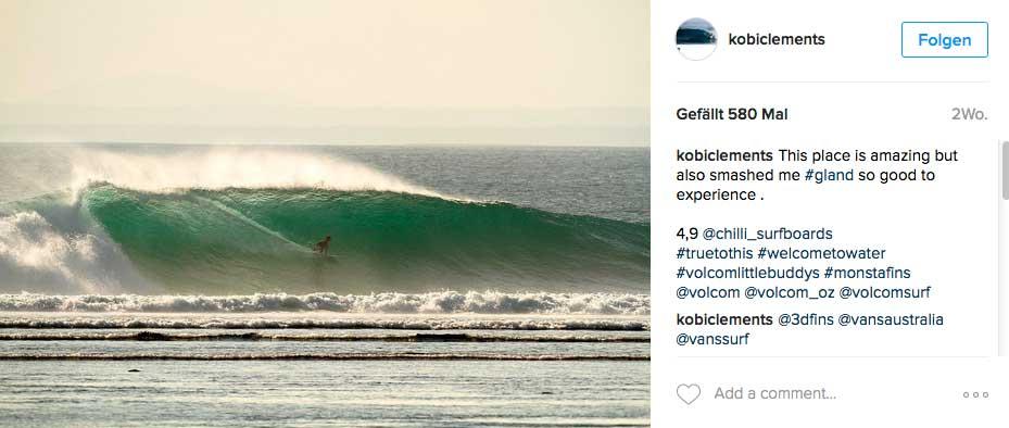 Im Vergleich zu Kobi ist diese Welle ein riesiger Brecher.