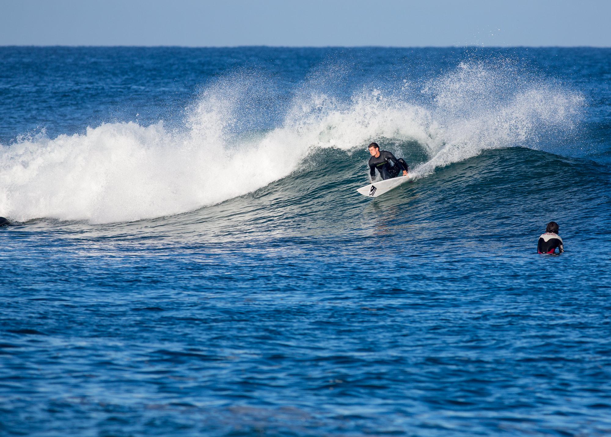 Marc Piwko ist Titelverteidiger und macht schon seit mehreren Wochen die Beachbreaks an der französischen Atlantikküste unsicher. Foto: Patrick Steiner