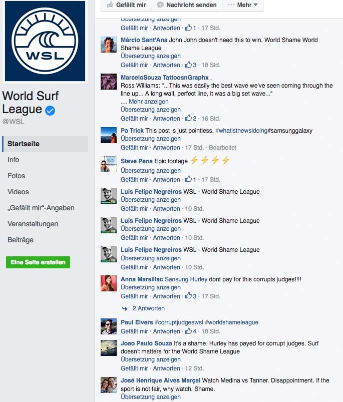 Ein paar hundert solcher Kommentare dürften sich auf der Facebook-Seite der WSL angehäuft zu haben.