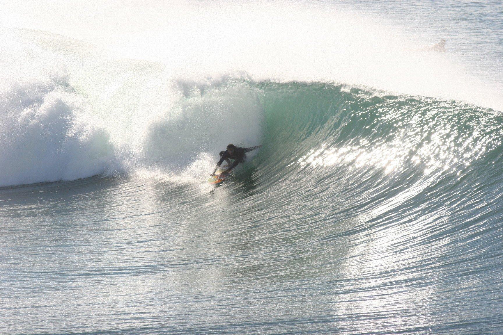 Also wir würden für solche Wellen sofort alles stehen und liegen lassen.