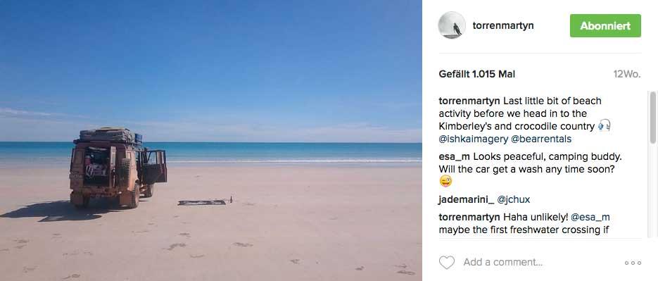 Nur einer der Orte, die Torren auf seinem Trip fand.
