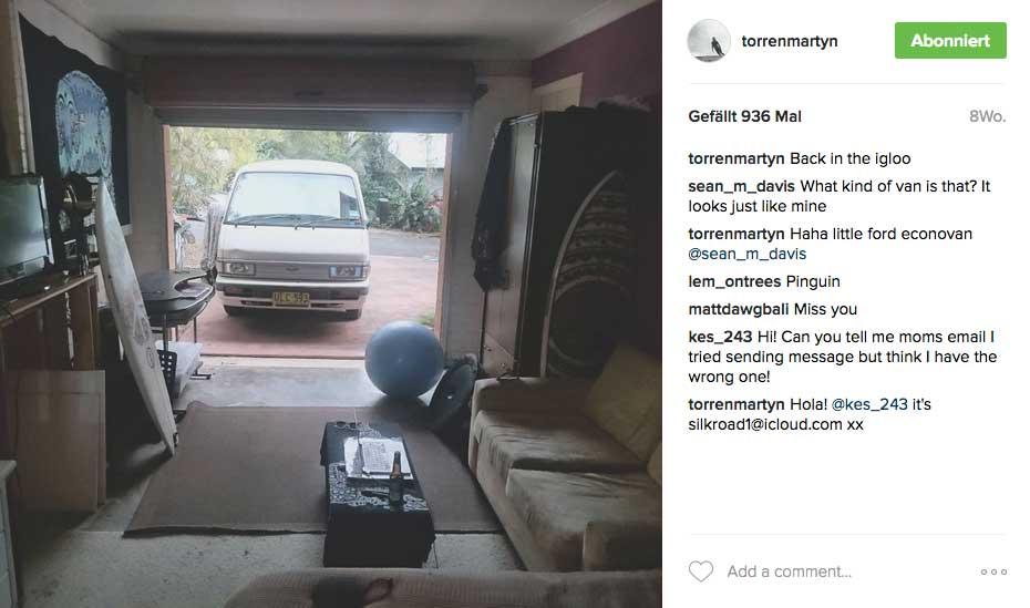 Aber für seinen Lifestyle muss Torren auch ein paar Abstriche in Kauf nehmen. Der Mann wohnt in einer Garage.