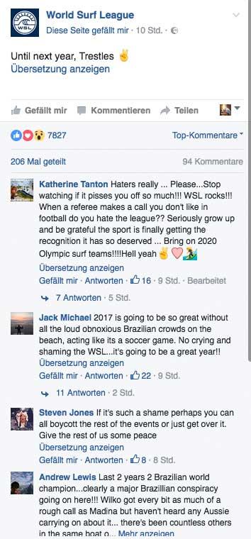 Ein kleiner Ausschnitt der Kommentare des US-Lagers zum Thema Judges.