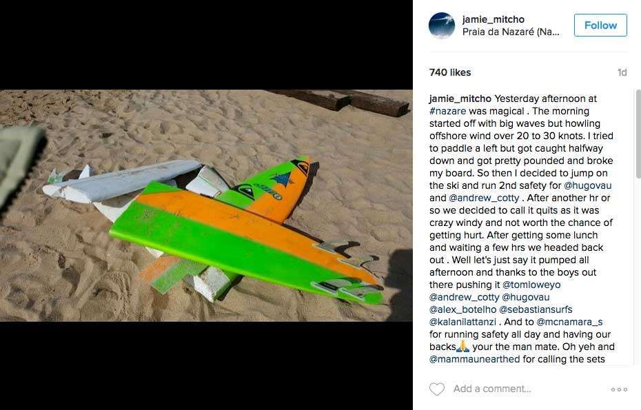 Die Folgen eine Takeoffs. Das grün-gelbe Gun gehörte Jamie Mitchell.