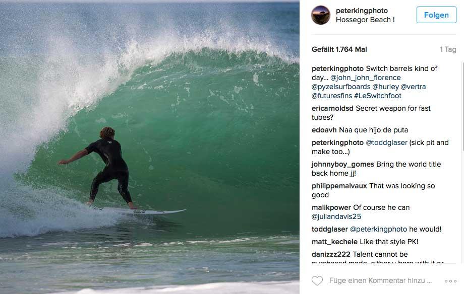 Dann beim Switch-Surfen. Und wer sehen will, was John John in richtigen Wellen drauf hat, der sollte hier clicken.