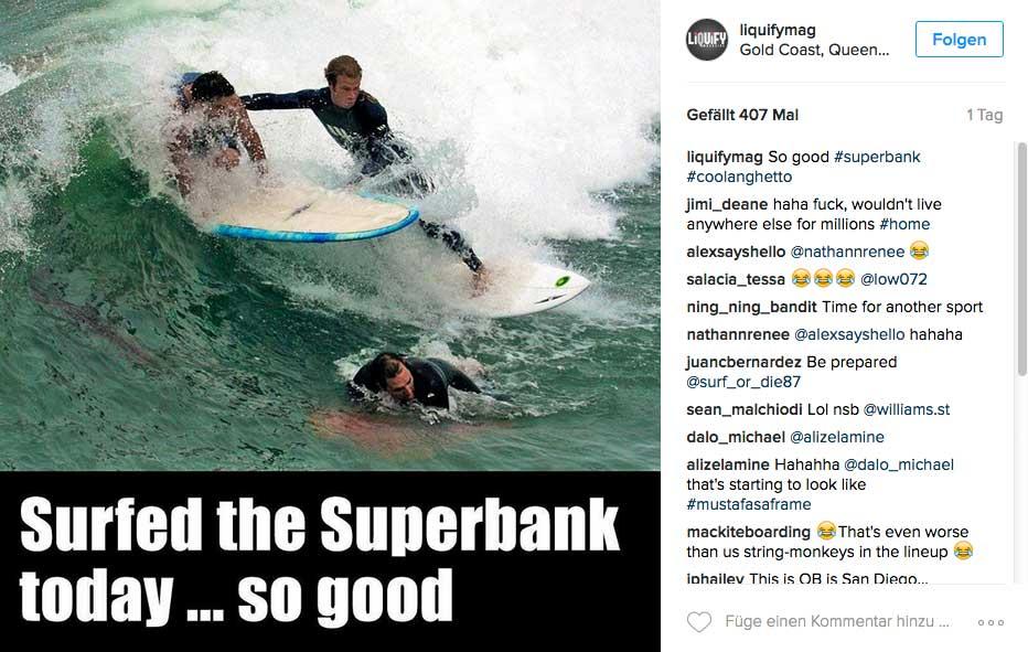 Warum wollen nur alle immer die Superbank surfen? Weil man da bis zu sieben Tubes auf einer Welle haben kann!