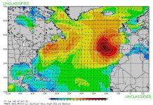 Die Swellkarte lässte keinen weifel zu: Es wird groß in Portugal.