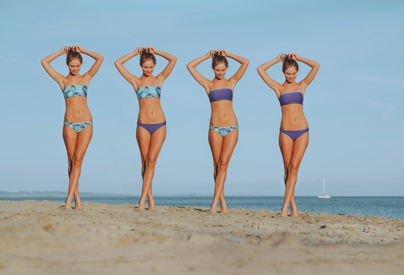 Ein Bikini, vier verschiedene Stylemöglichkeiten!