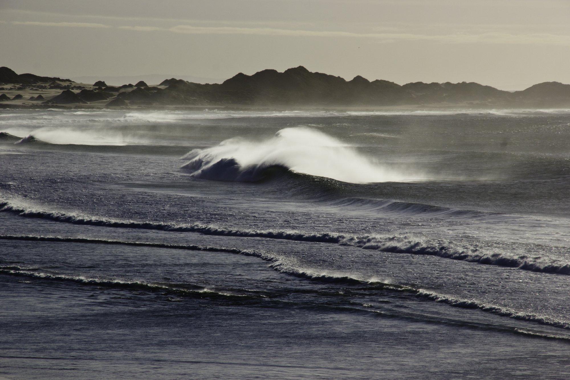 Die meisten Wellen, die Carlo auf seiner Reise fand, hatte er ganz für sich allein.
