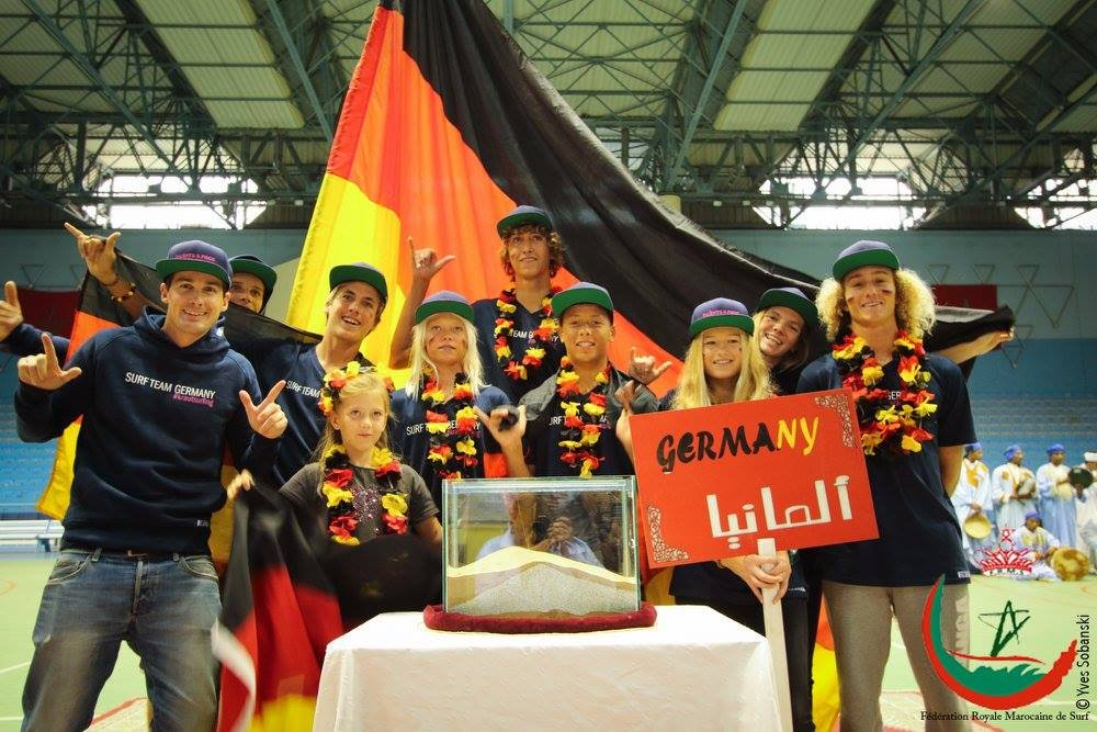 Team Germany bei der Eurosurf Junior 2016.