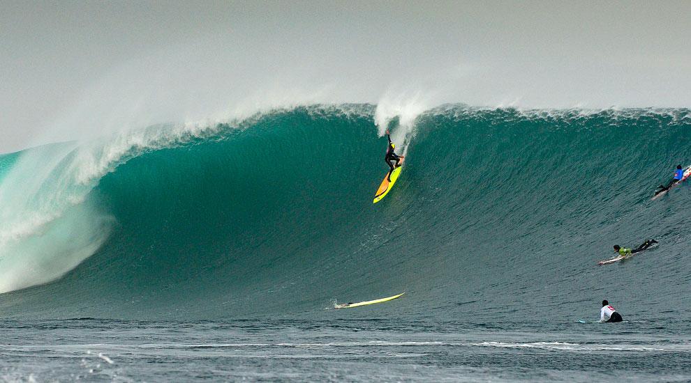 Big-Wave-Surfer Frank Solomon in seinem Element.