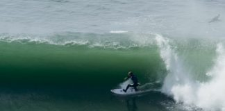 Andino und Young shredding Ocean Beach, SanFran