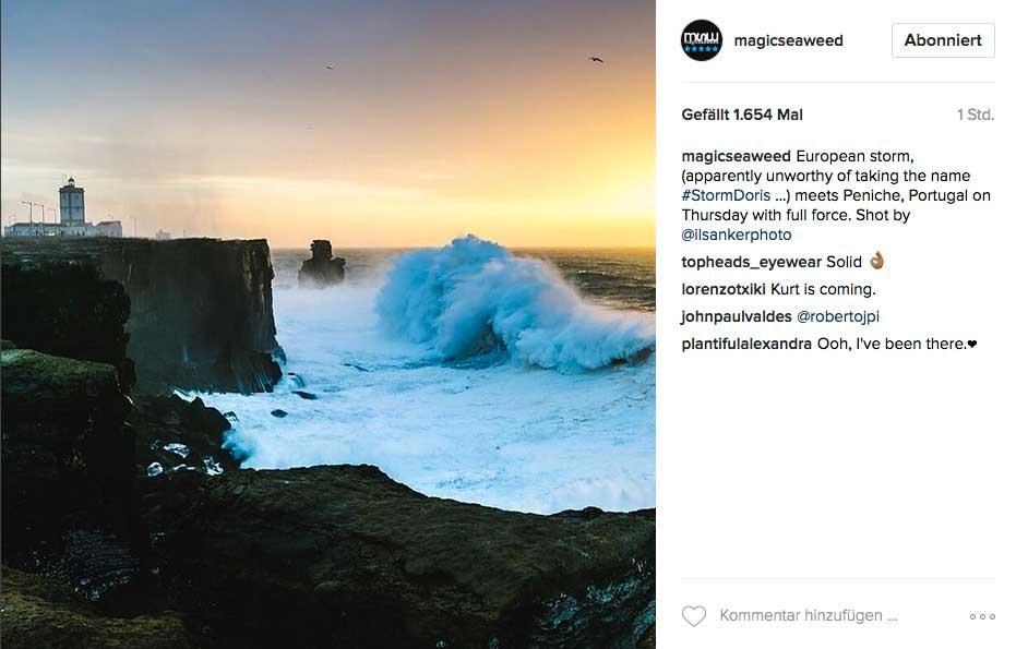 Auch in Peniche zeigte sich der Ozean von der eher unfreundlichen Seite.