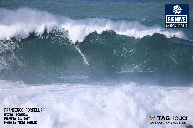 Wie oft würde der Surfer übereinander in das Face der Welle passen?
