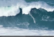 Der größte Swell des Winters in Nazaré