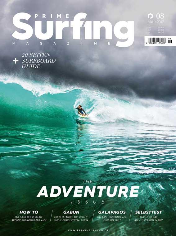Einmal war Fabian auch schon auf dem Cover von Prime Surfing zu sehen.