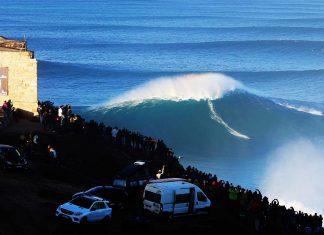 Ist hier Sebastian Steudtner auf der größten Welle des Jahres zu sehen? Vielleicht!