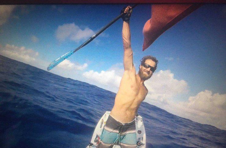 Chris Bertish auf seiner Atlantiküberquerung