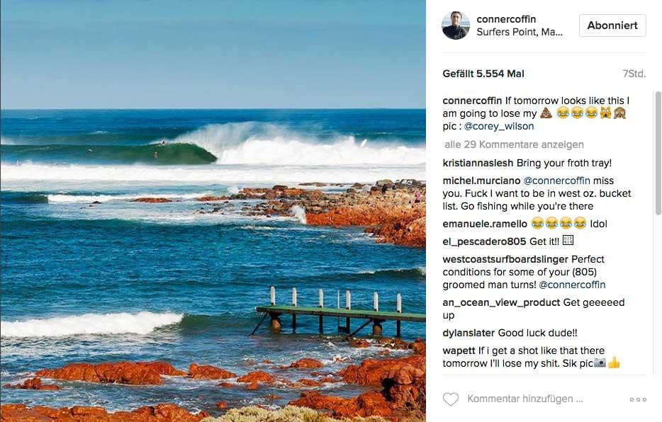 So sahen die Wellen etwa 24 Stunden vor dem Start des Contests aus. Und wie es aussieht, ist noch mehr Swell auf dem Weg.