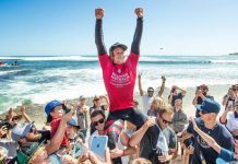 John Florence gwinnt in Margies