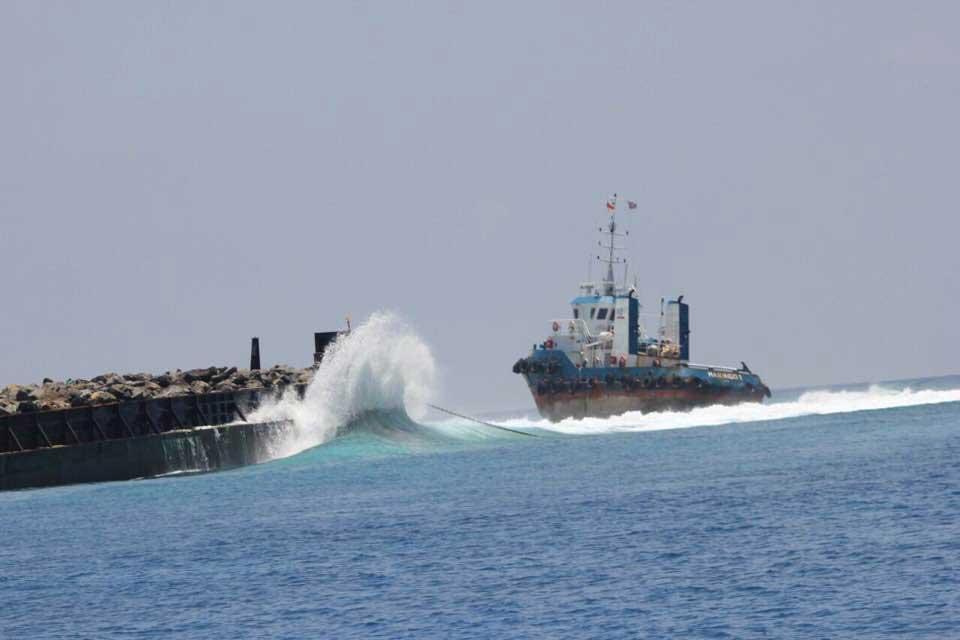 Boot Nummer 1 im Thaa Atoll