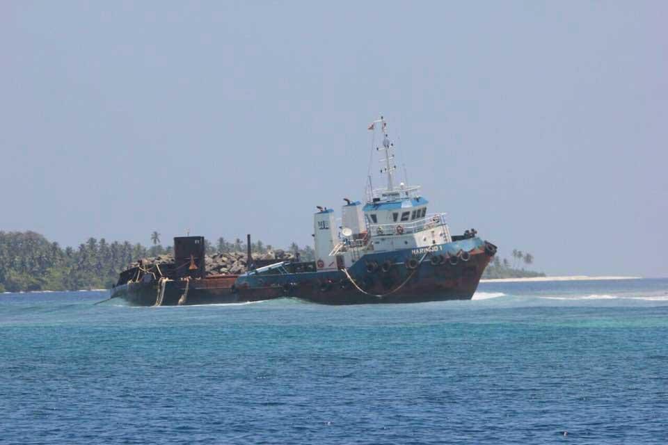 Boot Nummer 2 im Thaa Atoll