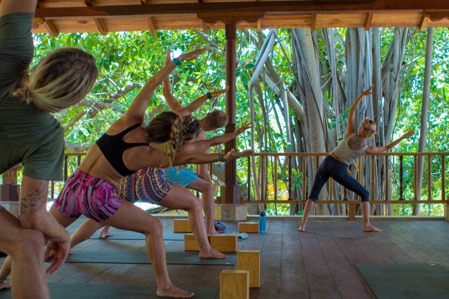 Yoga mit Ausblick! Der Unterricht ist natürlich im Angebot inklusive!