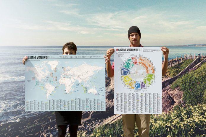 Die Surfing Worldwide Map