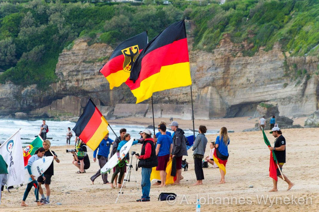 Team Germany am Grande Plage