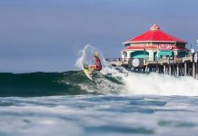 Huntington Beach und sein Pier bei den US Open of Surfing
