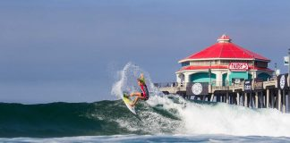 Huntington Beach und sein Pier bei den US Open of Surfing