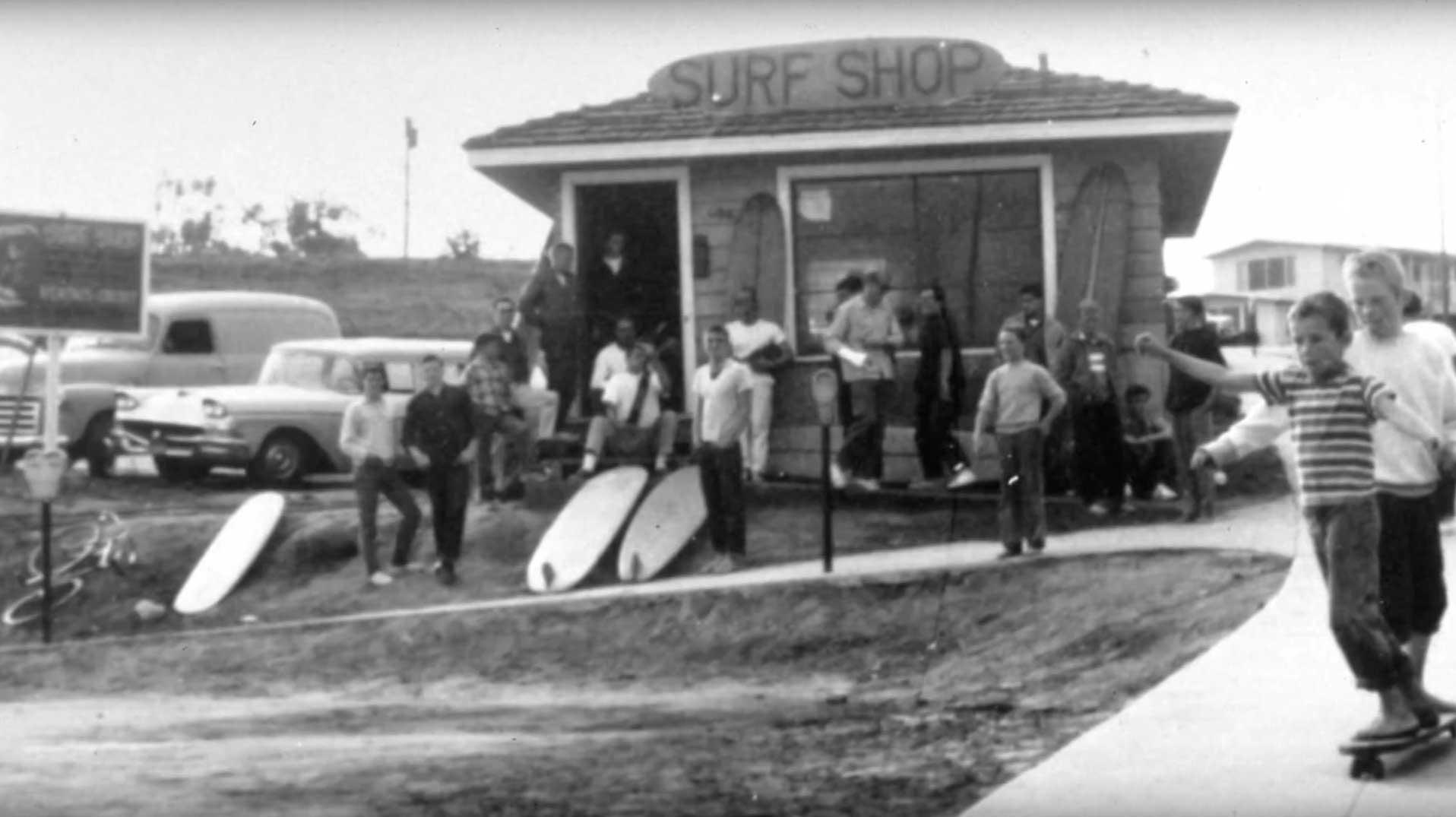 Jacks erster Surfshop.