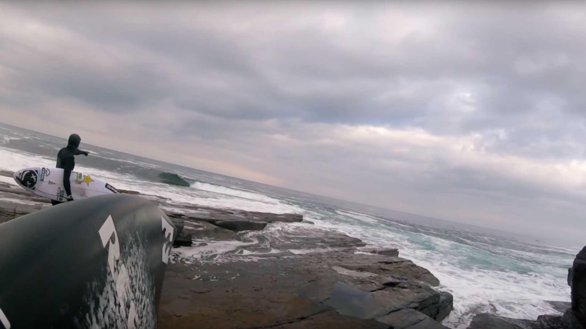 Wenn die richtige Welle kam, formte sie eine perfekte Tube - bevor sie auf den Felsen detonierte.