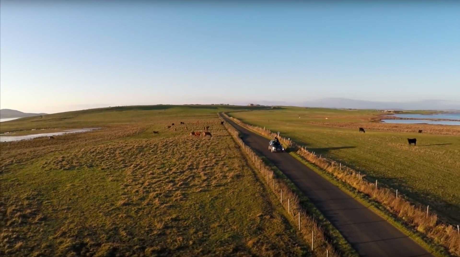 Es herrschten für die zwei verwöhnten Hawaiianer recht ungewohnte Temperaturen in Schottland.