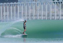 Die Welle in Kelly Slaters Wavepool