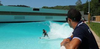 Team Germany surft den Wavegarden