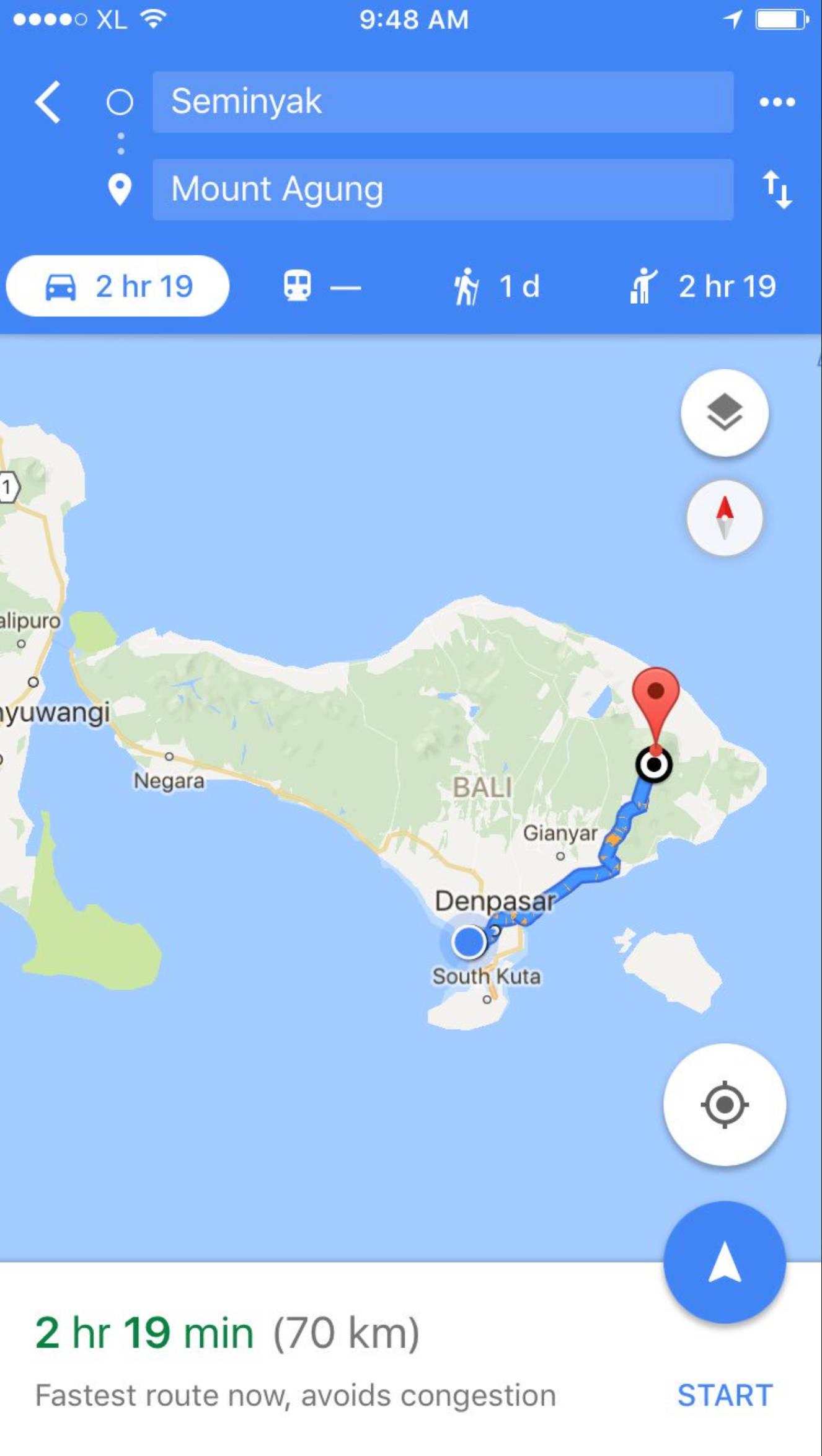 2 Stunden von Denpasar liegt der Agung.