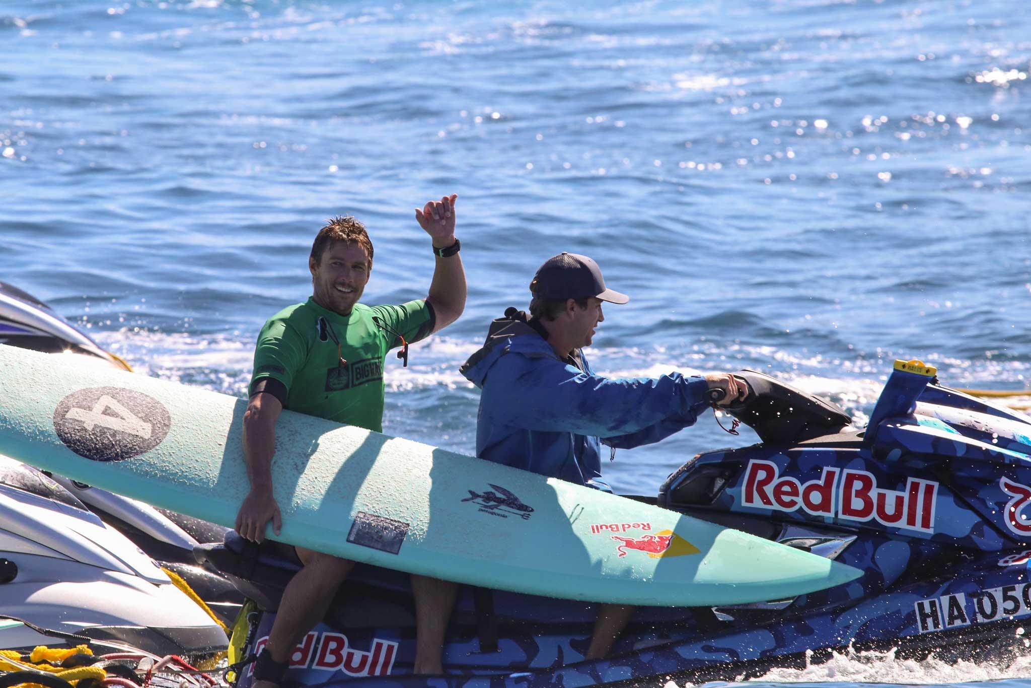 Am Ende die Nase vor: Der 34-jährige Ian Walsh aus Hawaii. Credit: WSL / Hallman
