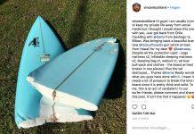 Die Angst jedes Surfers in einem Bild