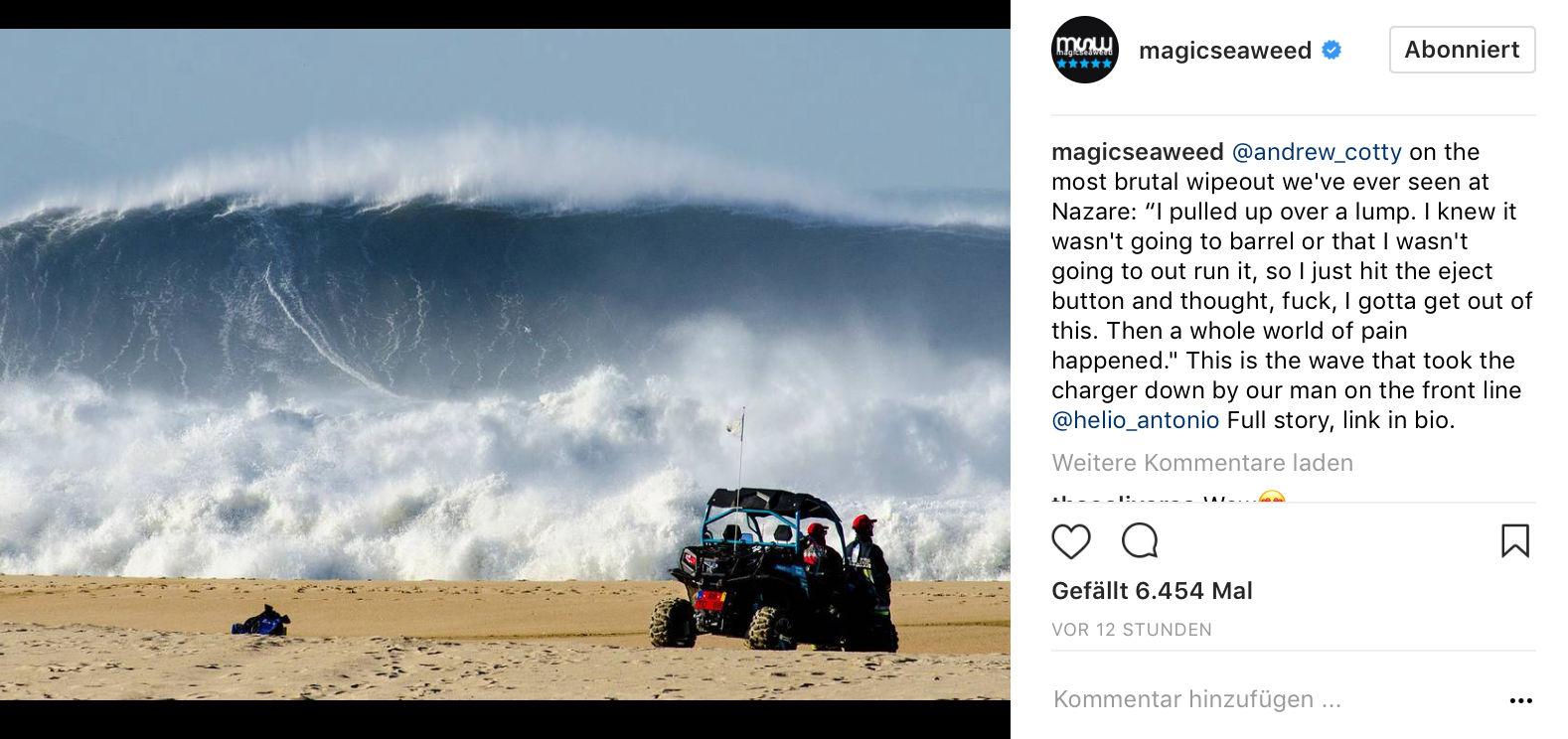 Wie groß ist die Welle? Riesig!