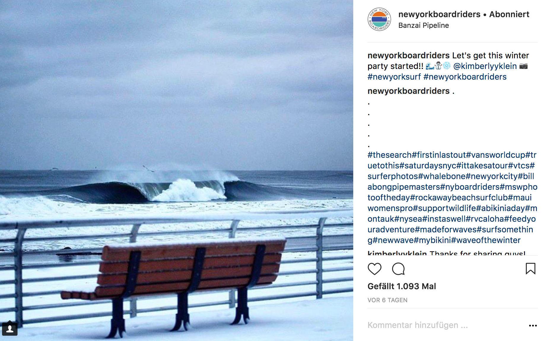 Wer den Temperaturen aber trotz, bekommt dafür solche Wellen.