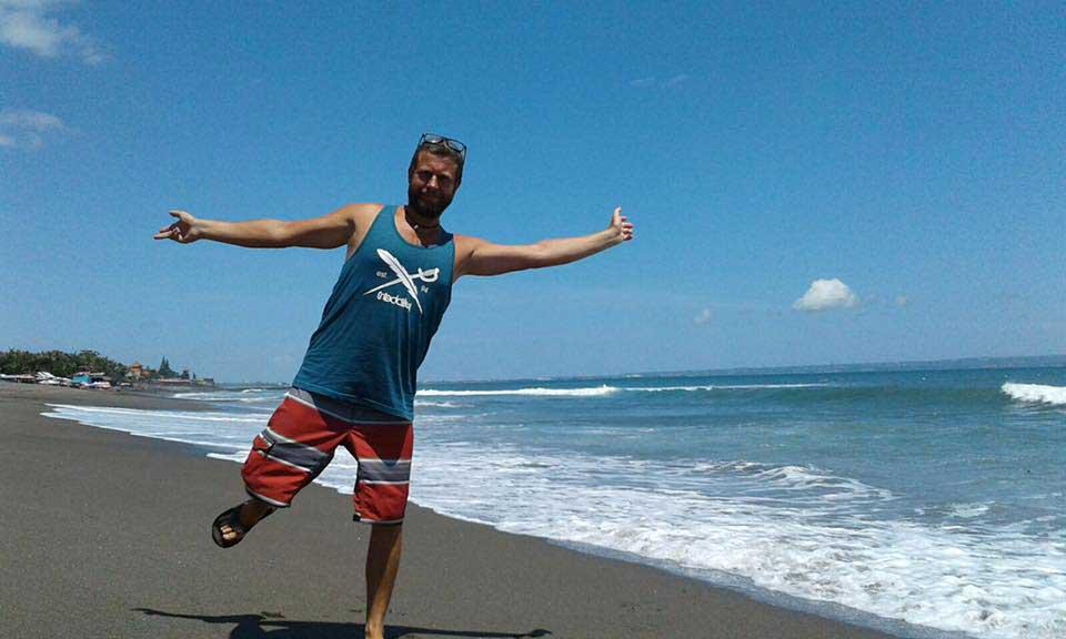 Thorsten auf Bali zu einem Zeitpunkt, als er noch nicht an Denguefieber dachte.