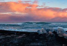 3 Grad Lufttemperatur und XXL-Eiswürfel im Wasser – auf Island darf man keine Frostbeule sein.