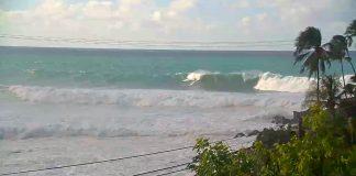 Ein ritt Waimea Bay direkt in den Shorebreak