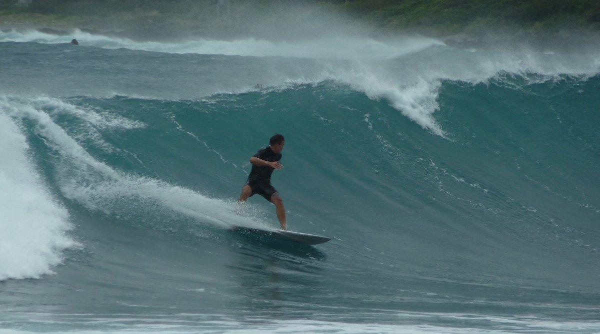 Wellen gibt es in Taiwan mehr als genug.