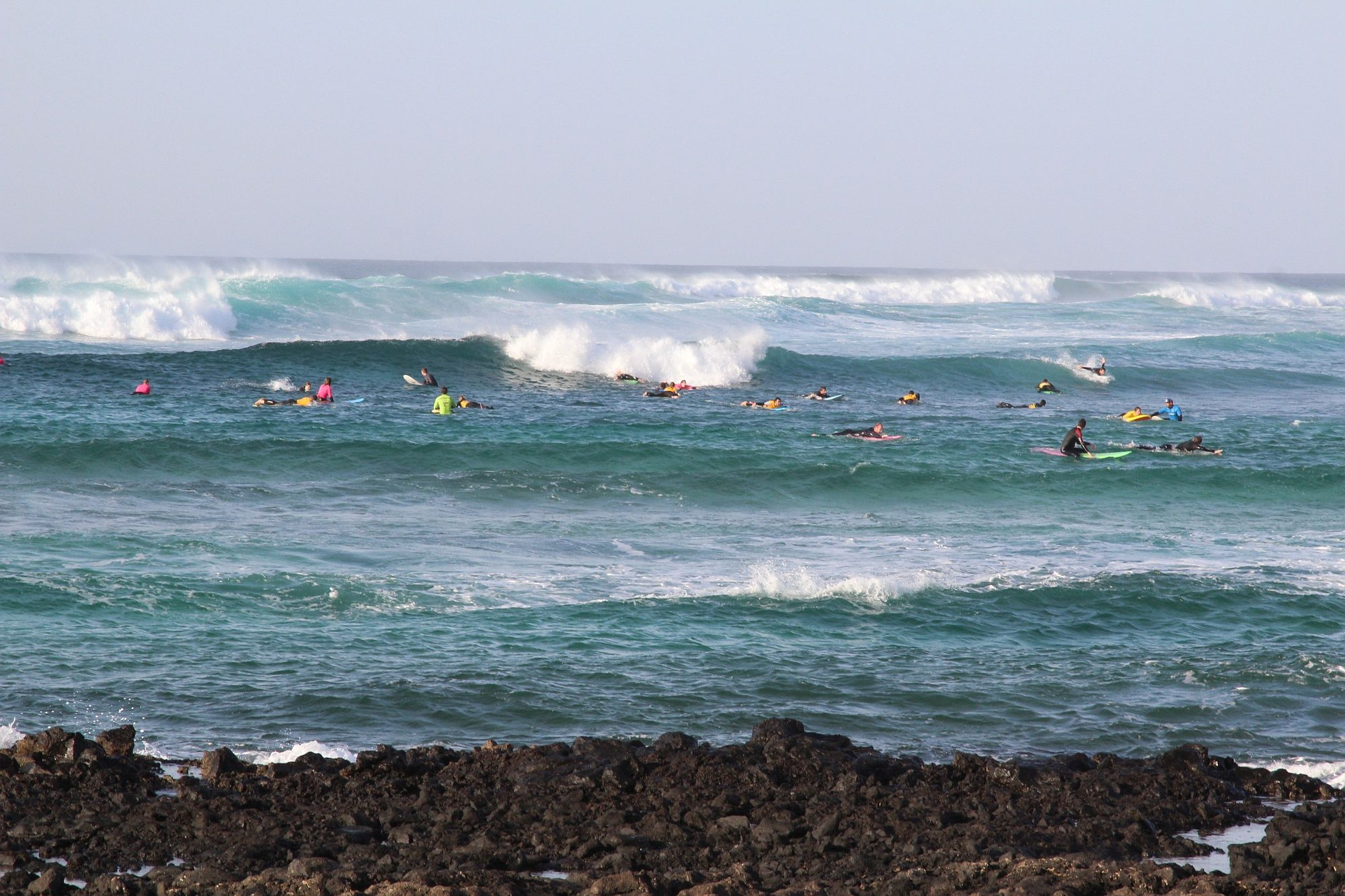 In Punta Blanca kann es schon auch mal voll werden. Foto: Julian Siewert