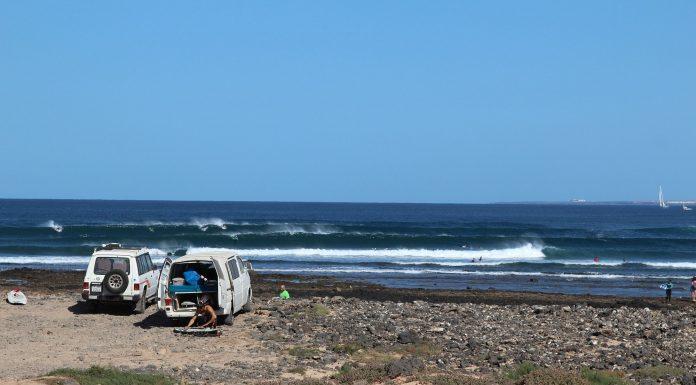 Der Traum eines jeden Campers: Morgends aufwachen mit Blick auf den Spot. Foto: Julian Siewert