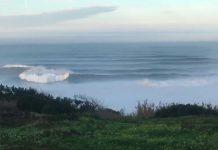 Nazaré heute kurz nach Sonnenaufgang
