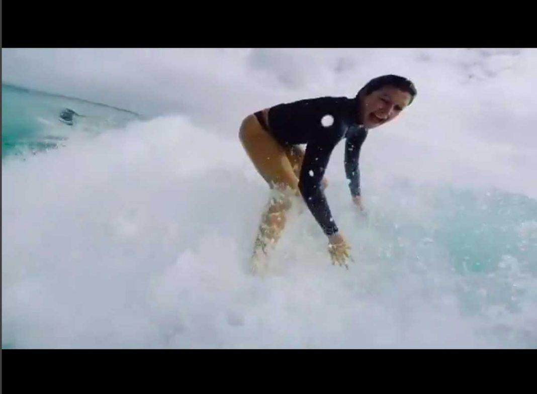 Slalomkurs auf der Superbank